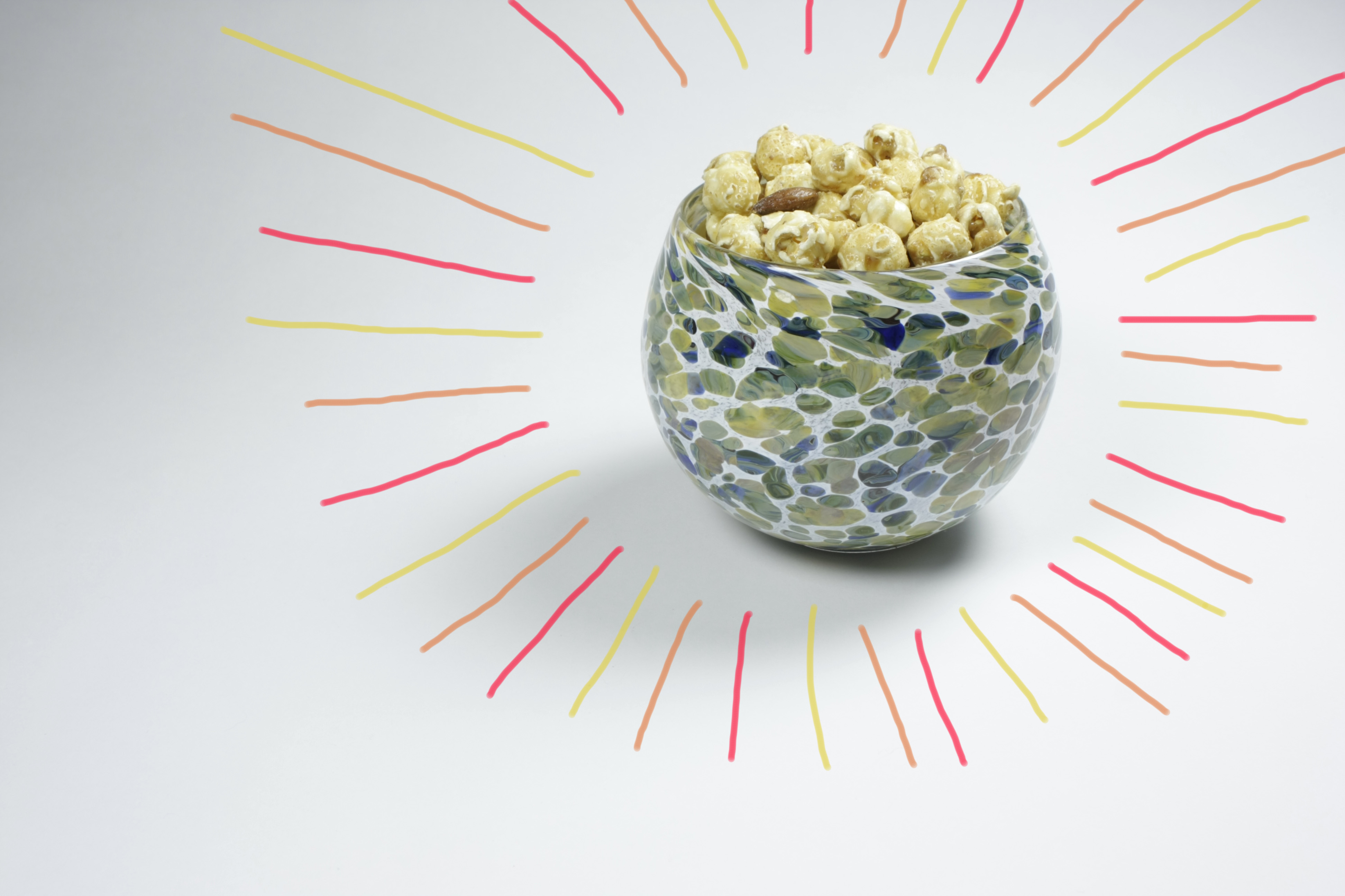 bowl with popcorn