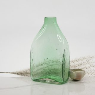 Rectangle Shaped Colourful Handblown Glass Bottle
