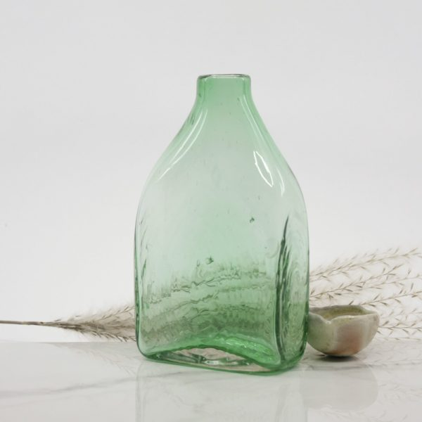 Rectangle Shaped Colourful Handblown Glass Bottle