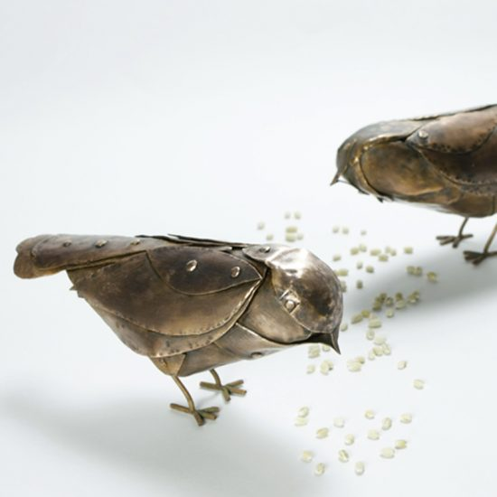 Copper Chickadees Bird Rivetted