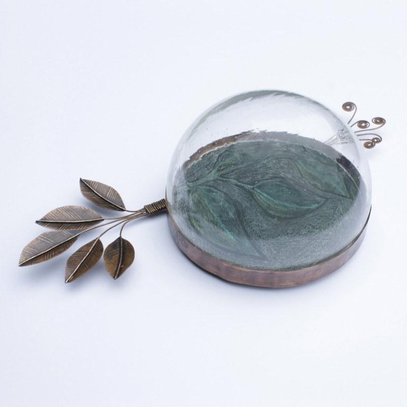 Copper Leaves and Glass