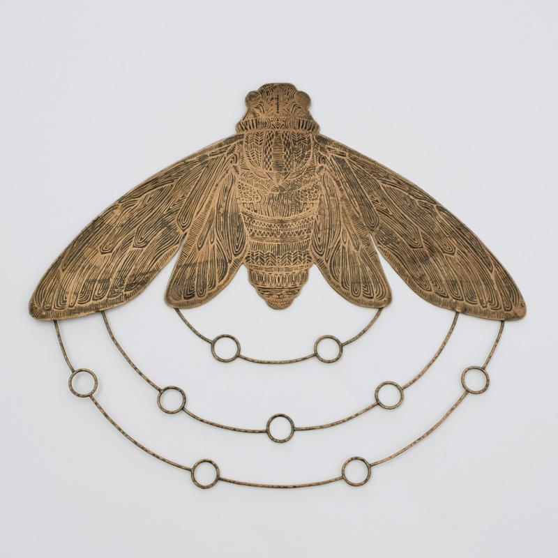 Etched Copper Cicada