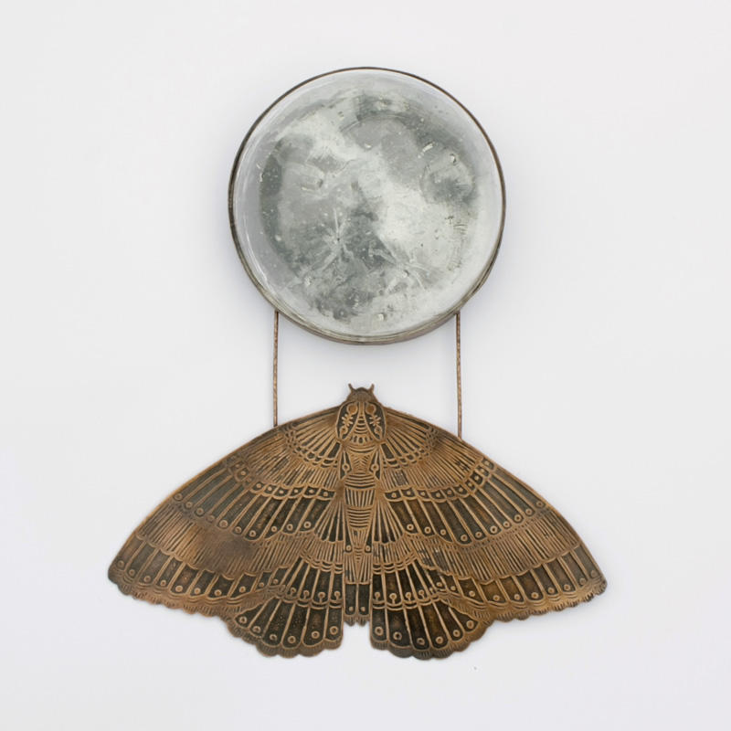 Copper Moth with Glass Moon
