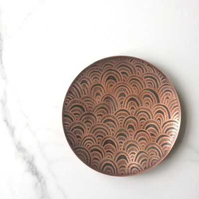 Etched Copper Dish