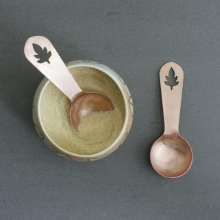 Leaf Copper Scoop