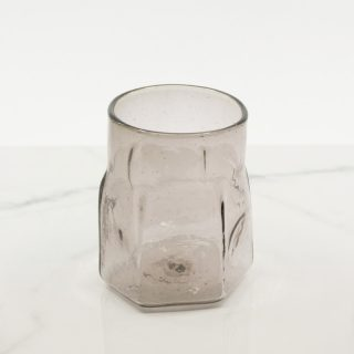 Hexagon Shaped Blown Glass Tumbler