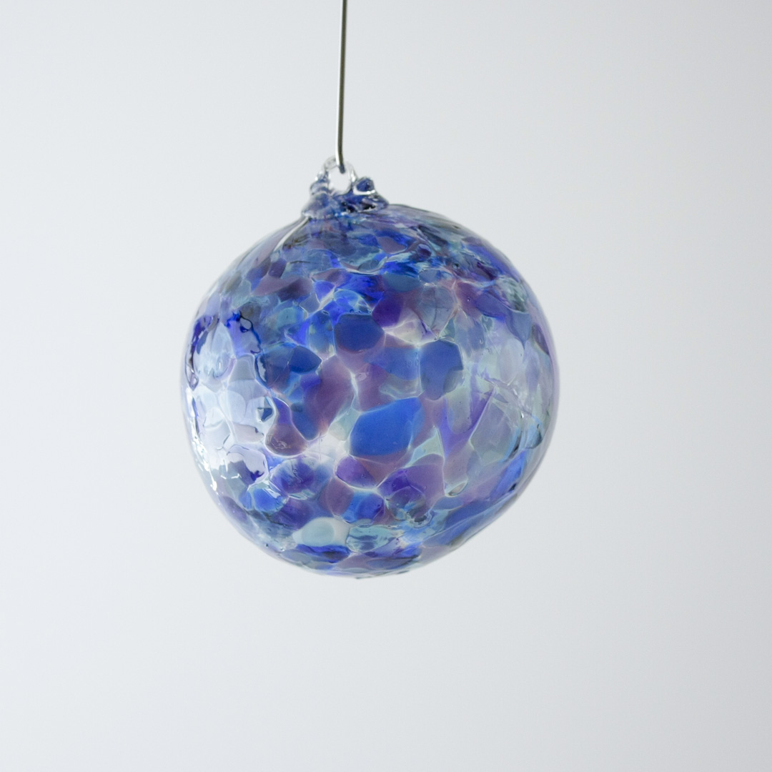 Colourful glass ornament