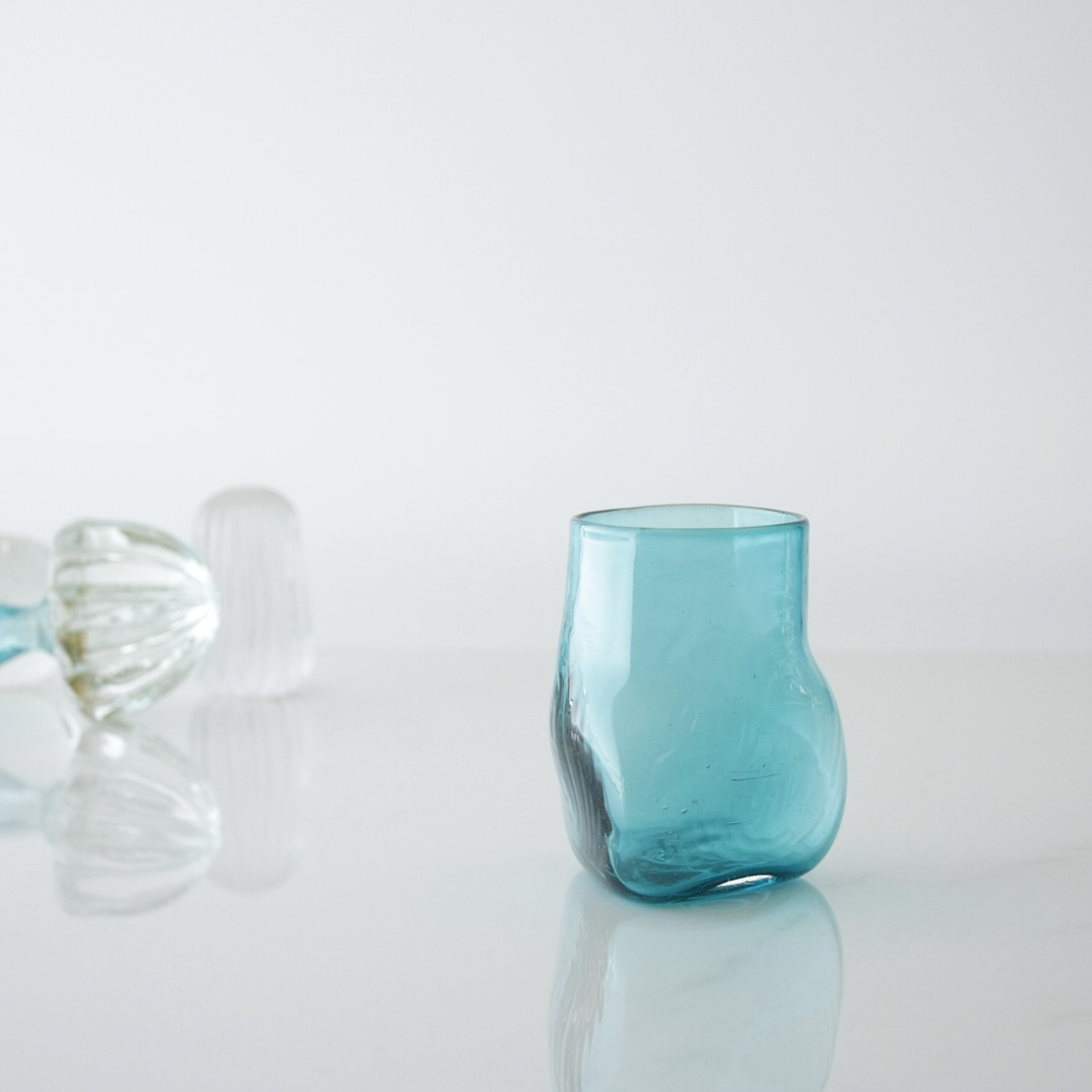 Triangular Handblown Glass