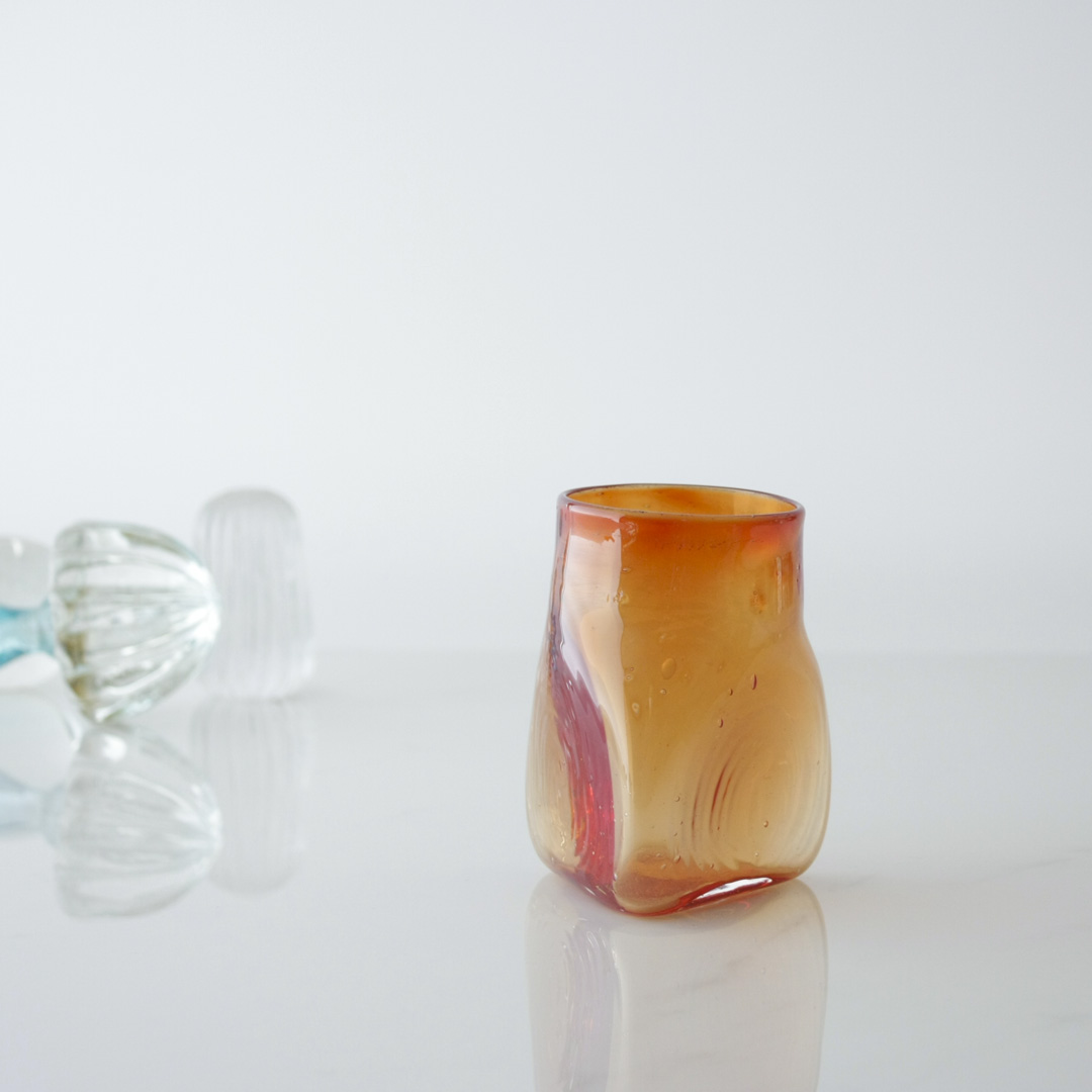 Triangular Handblown Glass
