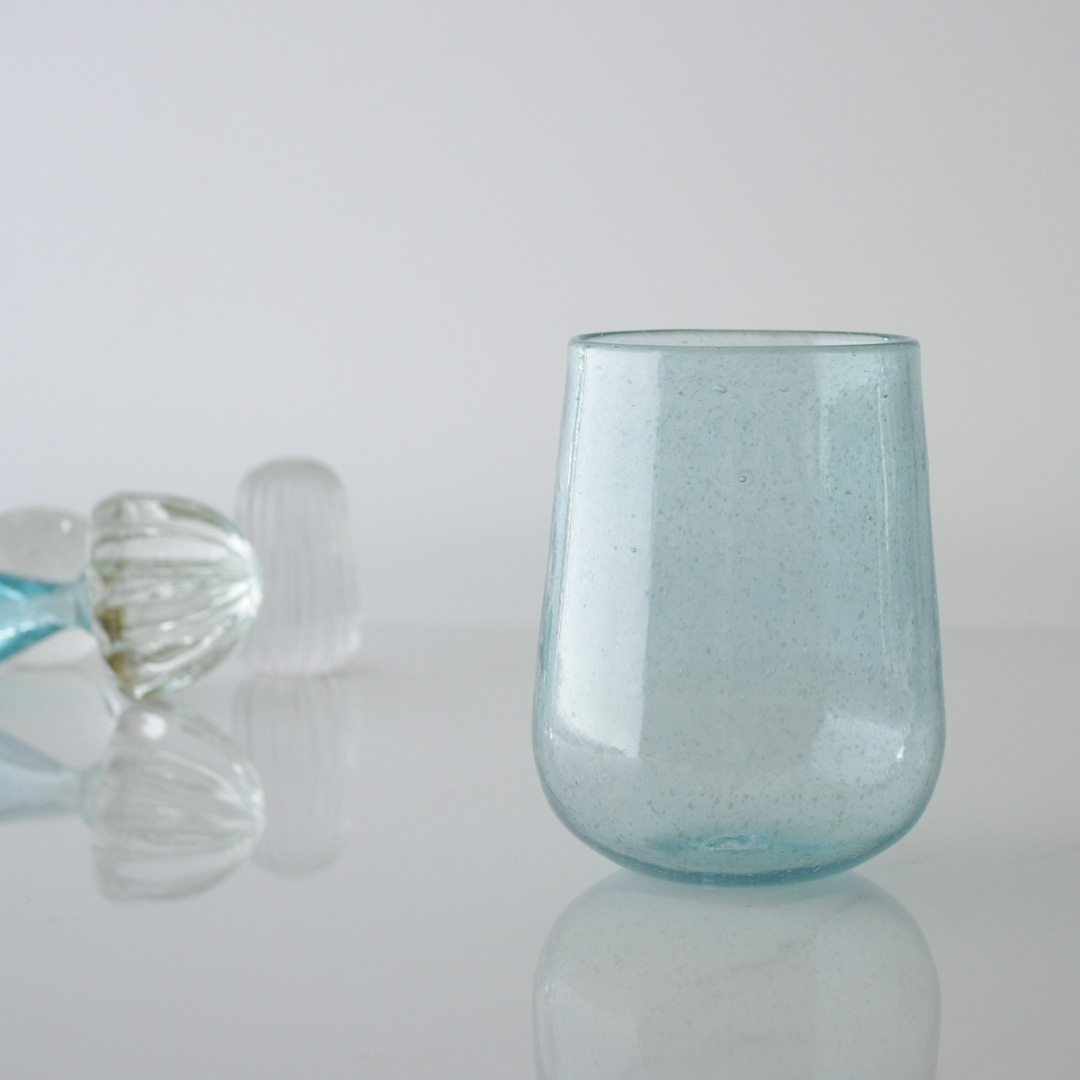 Light Blue handblown glass