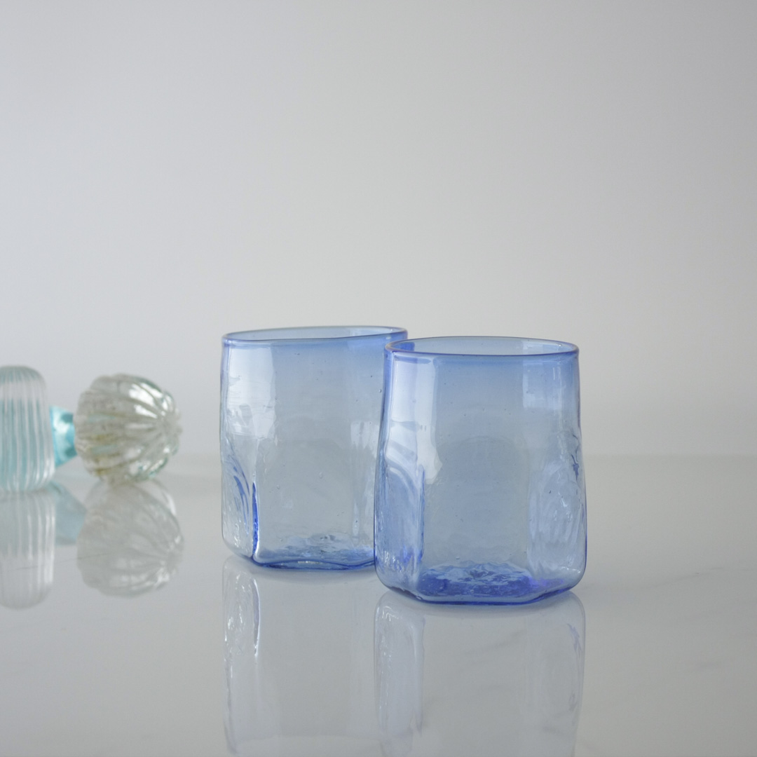 Hexagonal Set of Handblown Glasses